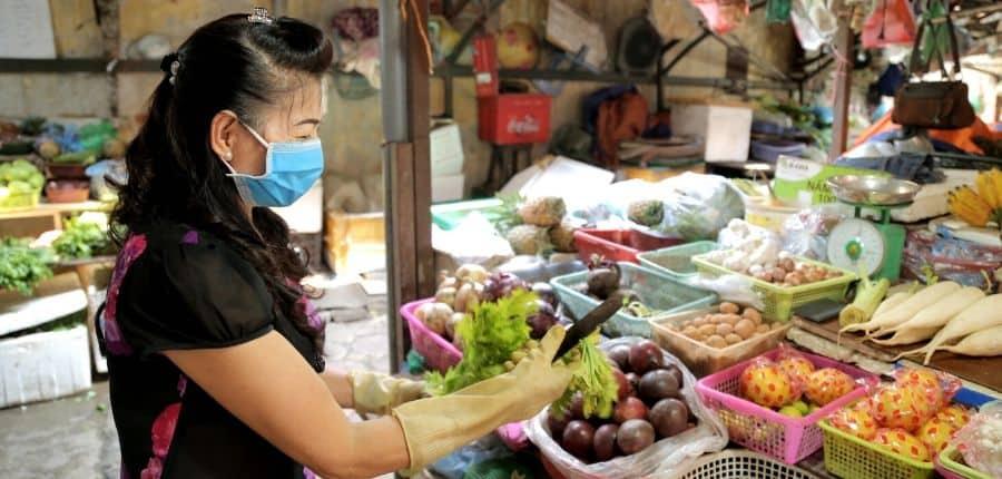 Marché local du Vietnam - Circuit dégustation gastronomique du Vietnam 10 jours